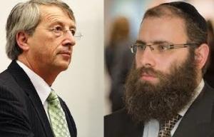 Jean-Claude Juncker und Menachem Margolin