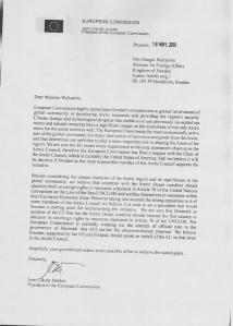 Brief Juncker Wallström