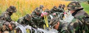 Ungarische Soldaten an der Grenze zu Slowenien